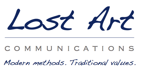 Lost Art Logo with Slogan